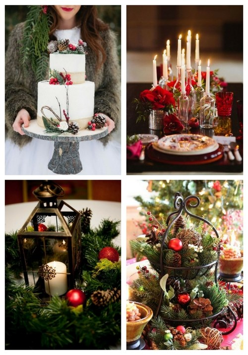 80 beautiful christmas wedding ideas - Christmas Wedding Decorations Ideas