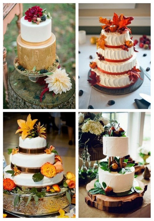 main Delicious Fall Wedding Cakes