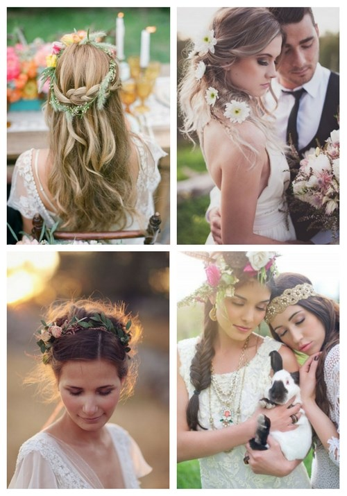 40 Inspiring Boho Bridal Hair Ideas