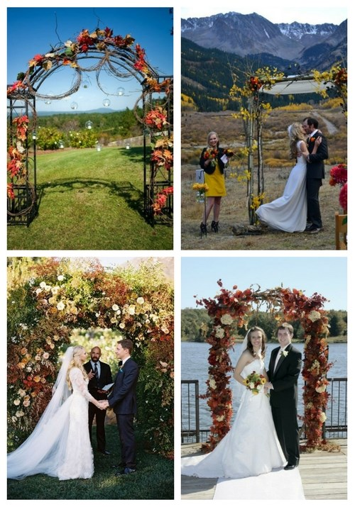 46 outdoor fall wedding arches happywedd 46 outdoor fall wedding arches junglespirit Gallery