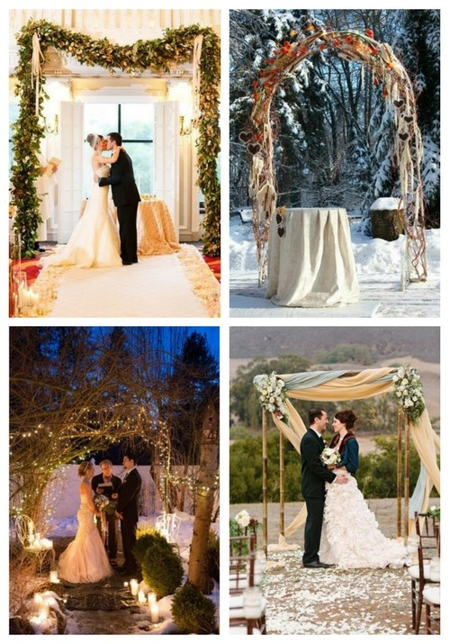 main Winter Wedding Arches And Altars To Get Inspired