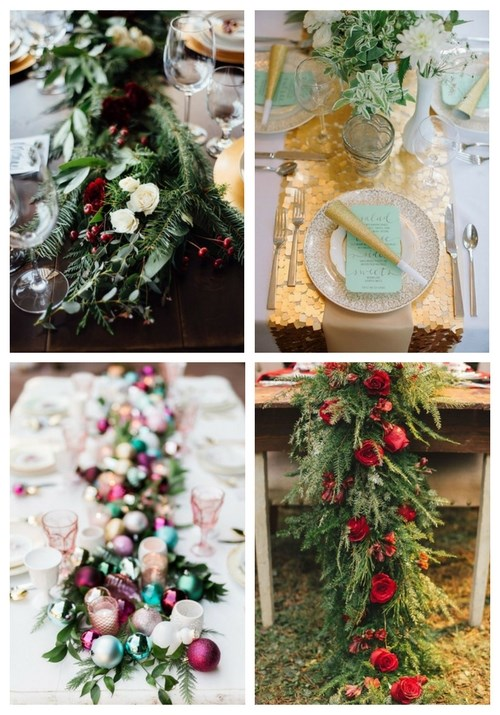 main Winter Wedding Table Runners