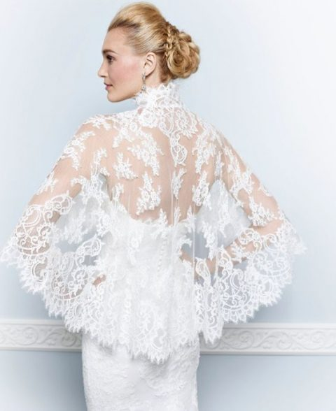stunning lace capelet with a collar