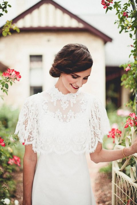 stunning lace wedding capelet