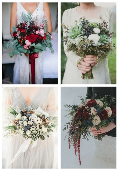25 Chic Winter Wedding Bouquets | HappyWedd.com