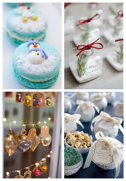 36 Cool Winter Wedding Favors