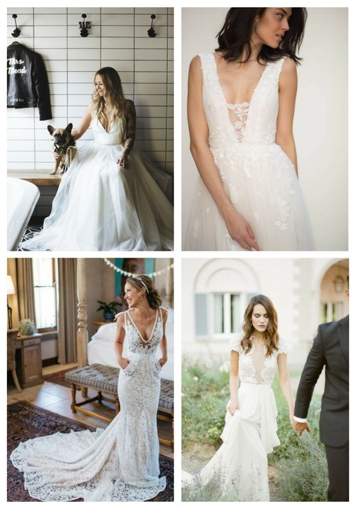 main Sexy Plunging Neckline Wedding Dresses