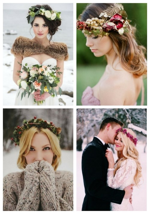 main Winter Bridal Crowns From Flowers And Greenery