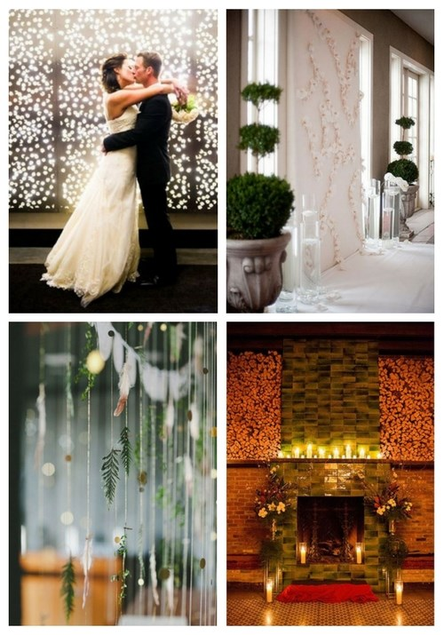 30 Winter Wedding Backdrops That Excite