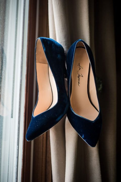 navy velvet shoes for comfort and warmth