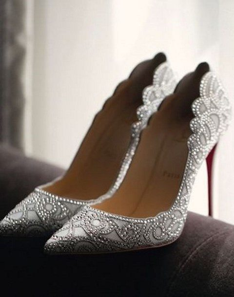 rhinestone wedding heels