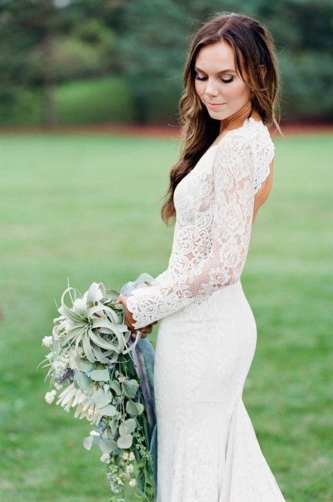35 Gorgeous Long Sleeve Wedding Dresses | HappyWedd.com