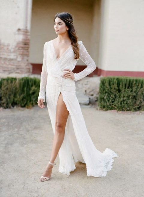 35 Gorgeous Long Sleeve Wedding Dresses Happywedd