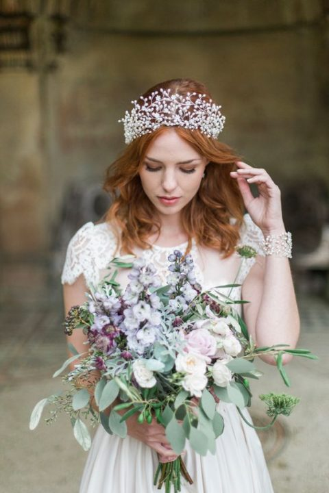 a statement pearl crown for a daring bride