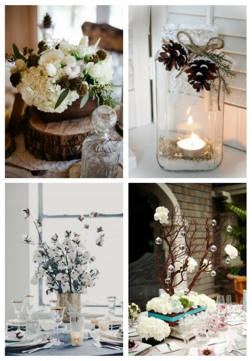 Adorable winter wedding ideas happywedd 90 inspiring winter wedding centerpieces youll love junglespirit Image collections