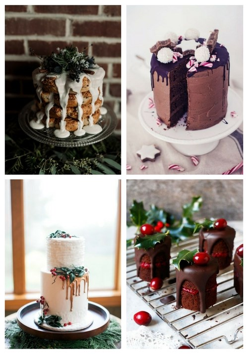 25 Winter Drip Wedding Cakes