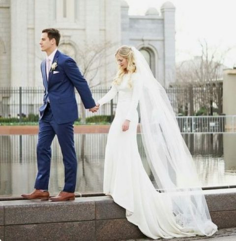Modest Wedding Dresses with Train