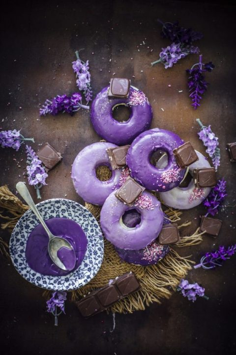 lavender and ultra violet donuts look gorgeous