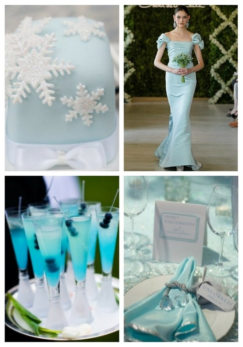 59 Beautiful Ice Blue Winter Wedding Ideas