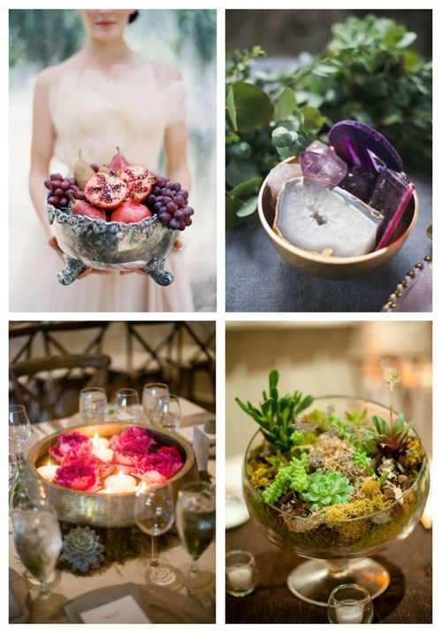 20 Bowl Wedding Centerpieces To Get Inspired
