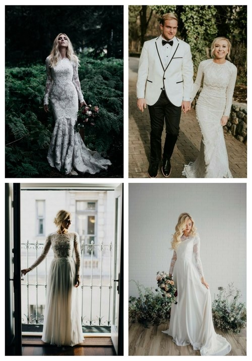 27 Chic Modest Wedding Dresses