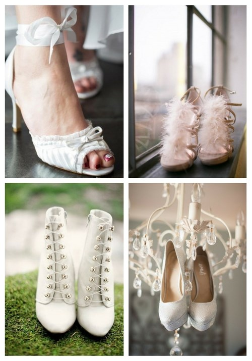 Cool Winter Bridal Shoes, Boots and Flats To Get Inspired