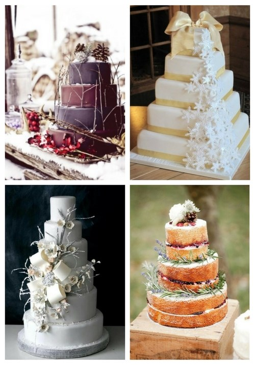 103 Fabulous Winter Wedding Cakes