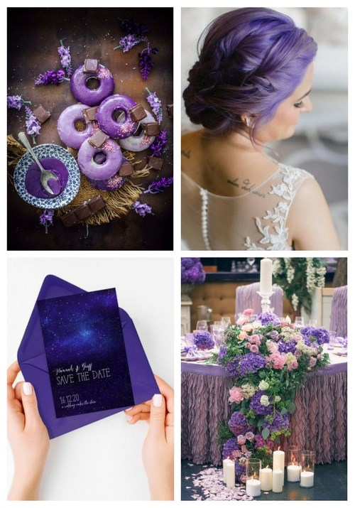 Pantone\'s 2018 Color: 30 Ultra Violet Wedding Ideas | HappyWedd.com