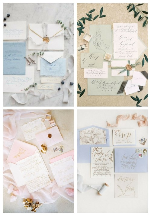 20 Tender Pastel Wedding Stationery Ideas