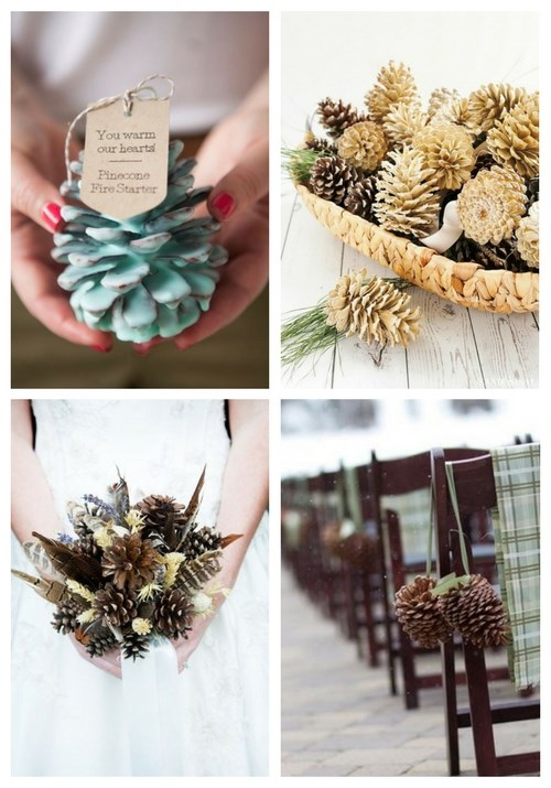 25 Ways To Incorporate Pinecones Into Your Wedding