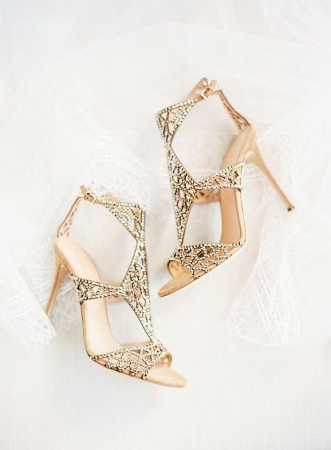 chic embellished shoes for fashion-forward brides