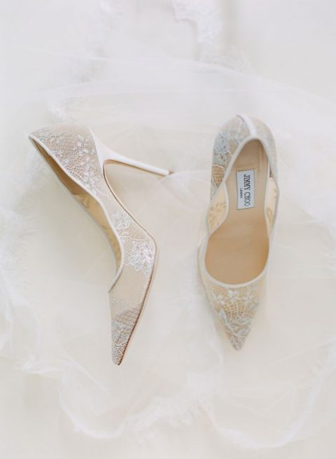 lace wedding shoes by Jimmy Choo