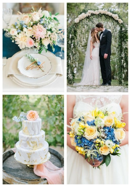 9 summer wedding color combos and 27 ideas happywedd 9 summer wedding color combos and 27 ideas junglespirit Image collections