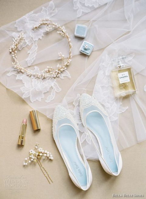 semi sheer white lace wedding flats