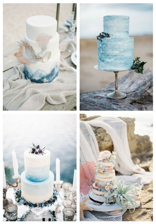 27 Beach Wedding Cakes Done With Impeccable Taste