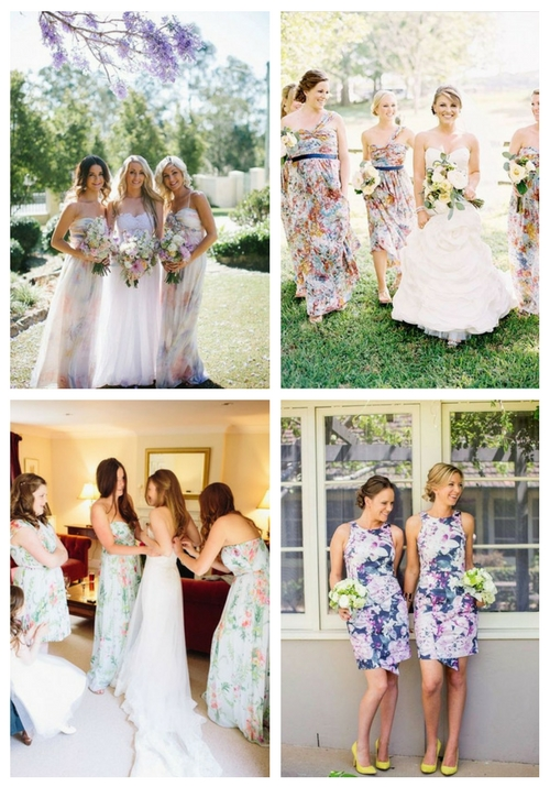33 Floral Printed Bridesmaid Dresses