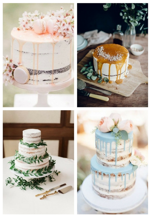30 Naked Cakes For Spring Weddings