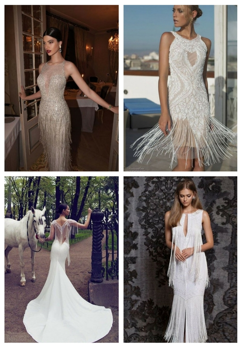 27 Playful Fringe Wedding Dresses