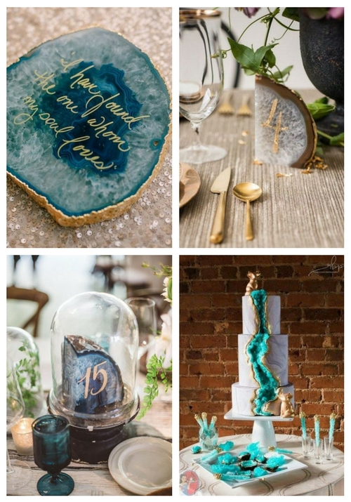 57 Trendy And Chic Geode Wedding Ideas