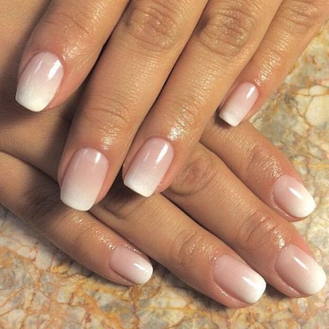 ombre French nails are a fresh take on a traditional option