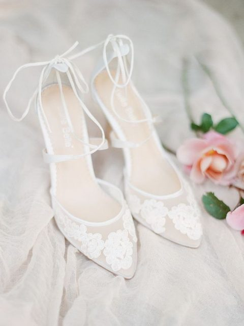 comfy lace applique and lace up heels for summer