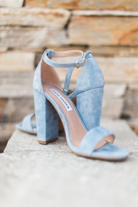 comfy powder blue heels for something blue at the wedding