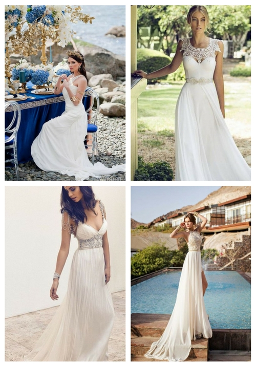 30 Flowing Grecian-Styled Wedding Dresses | HappyWedd.com
