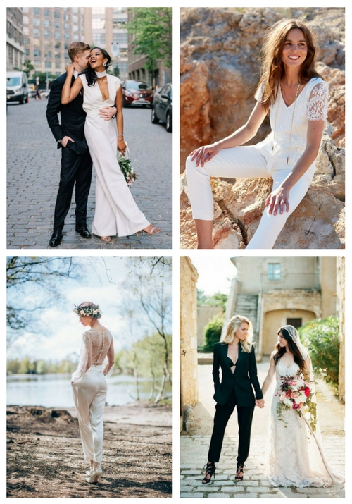 Wedding Pant Suits.22 Chic Bridal Pantsuits And Jumpsuits Happywedd Com