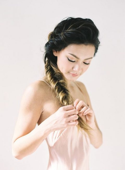 a loose side fishtail braid can be easily made by you