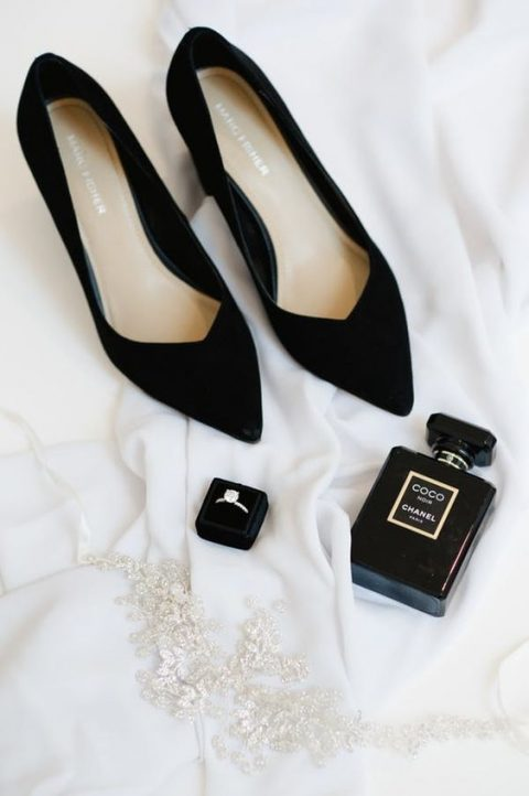 black velvet shoes are pure timeless elegance for any bridal look, velvet is number one for the fall and winter