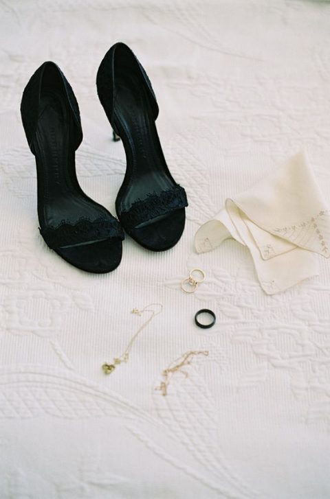 sexy black lace heels are a gorgeous idea for your wedding and some dates after it