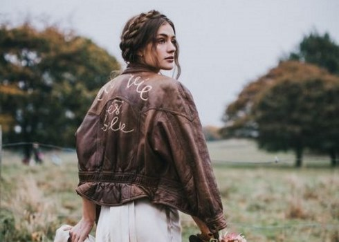 Hot Wedding Trend: 29 Leather Jackets For Brides
