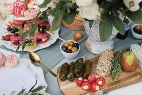 20 delicious appetizers served for the shoot