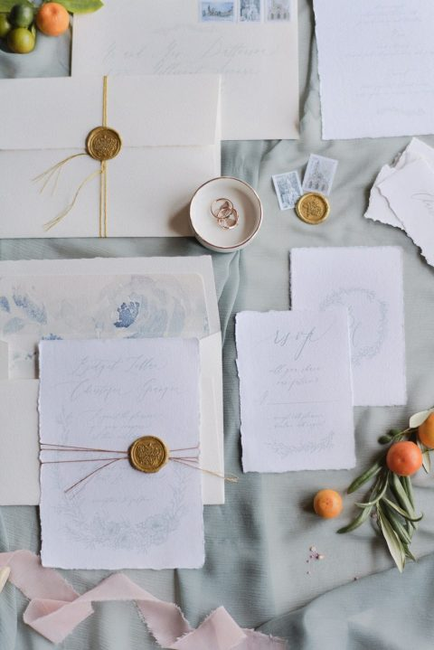 25 an elegant and dreamy watercolor wedding invitation suite